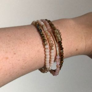 A set of four bracelets